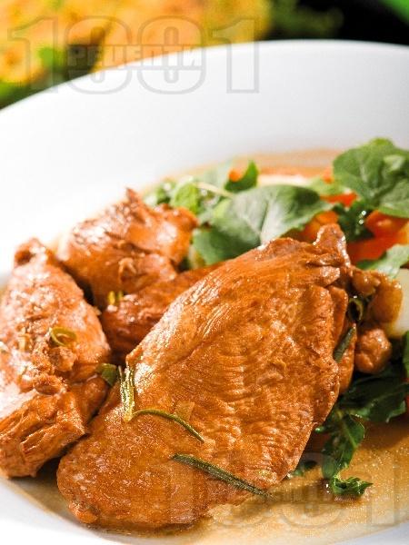 Мариновани пилешки филенца с рукола - снимка на рецептата